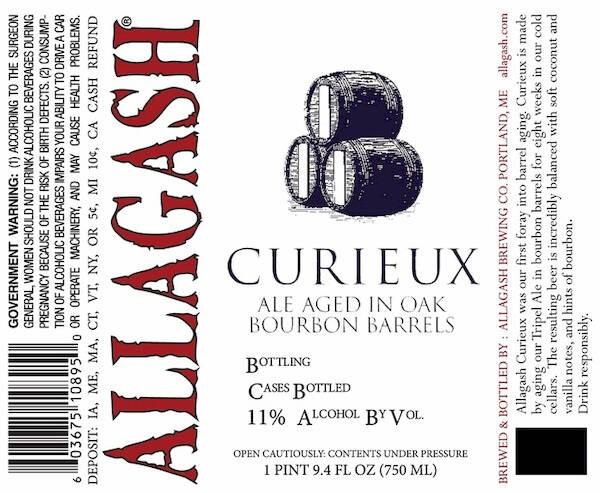 Allagash Curieux Bourbon Barrel Aged Belgian Style Ale Sixtel Keg 5.16 Gal