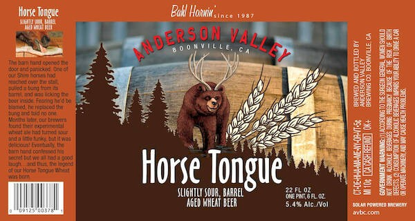 Anderson Valley Horse Tongue Barrel Aged Wheat Sixtel Keg 5.16 Gal