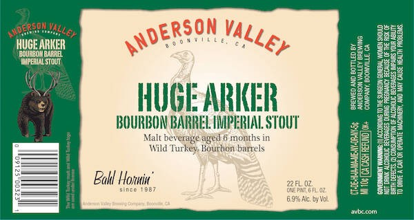 Anderson Valley Huge Arker Sixtel Keg 5.16 Gal