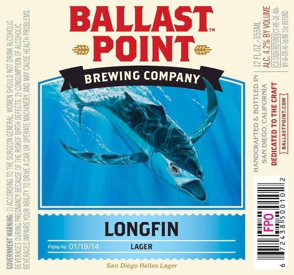 Ballast Point Longfin Lager Sixtel Keg 15.5 Gal