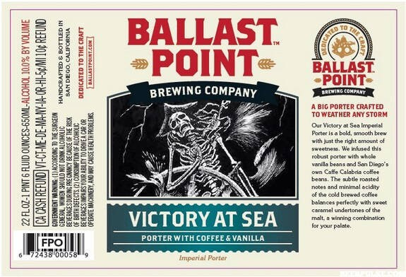 Ballast Point Victory at Sea Imperial Porter Sixtel Keg 5.16 Gal