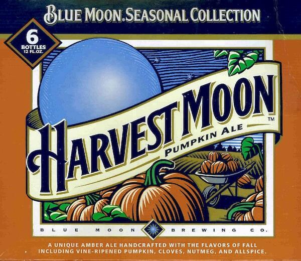 Blue Moon Harvest Moon Pumpkin Ale Sixtel Keg 5.16 Gal