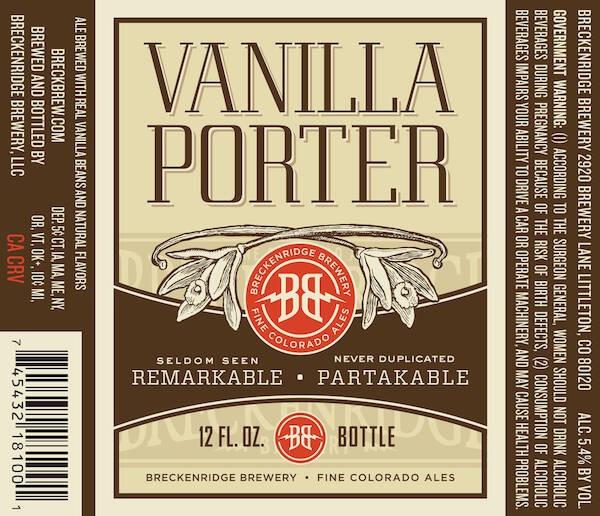 Breckenridge Vanilla Porter Sixtel Keg 5.16 Gal