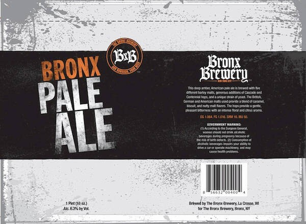 Bronx Pale Ale Full Keg 15.5 Gal