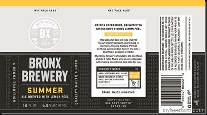 Bronx Summer Ale Full Keg 15.5 Gal