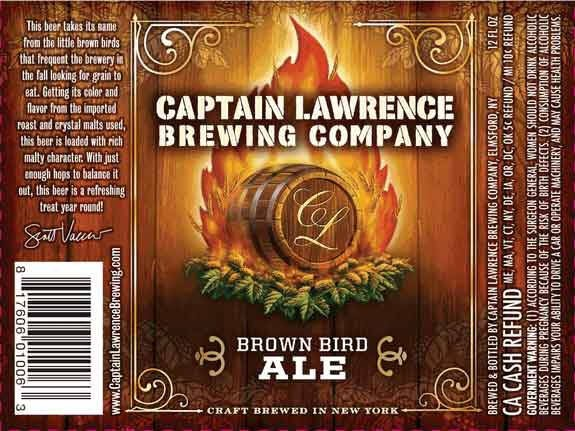 Captain Lawrence Brown Bird Brown Ale Sixtel Keg 5.16 Gal