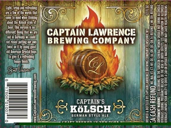 Captain Lawrence Captain's Kolsch Sixtel Keg 5.16 Gal