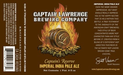Captain Lawrence Captain's Reserve Imperial IPA Sixtel Keg 5.16 Gal