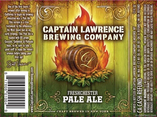 Captain Lawrence Freshchester Pale Ale Full Keg 15.5 Gal