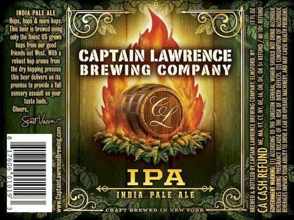 Captain Lawrence IPA Sixtel Keg 5.16 Gal