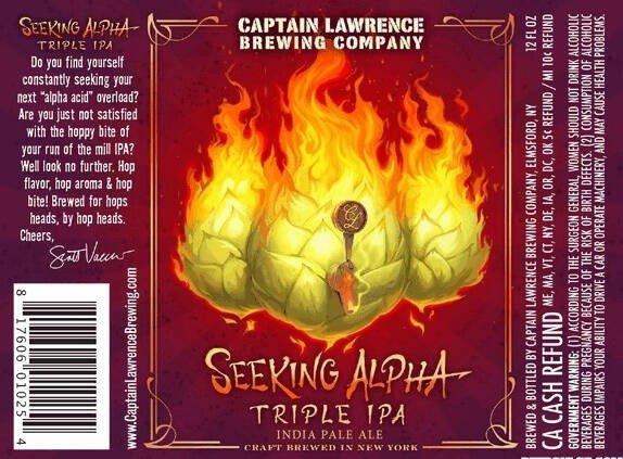 Captain Lawrence Seeking Alpha Triple IPA Sixtel Keg 5.16 Gal