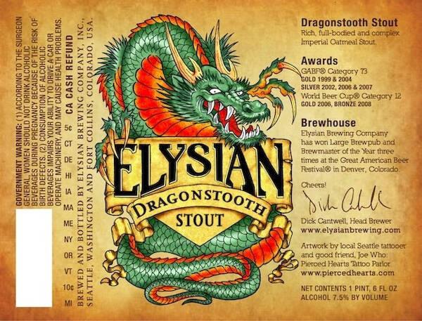 Elysian Dragonstooth Stout Sixtel Keg 5.16 Gal