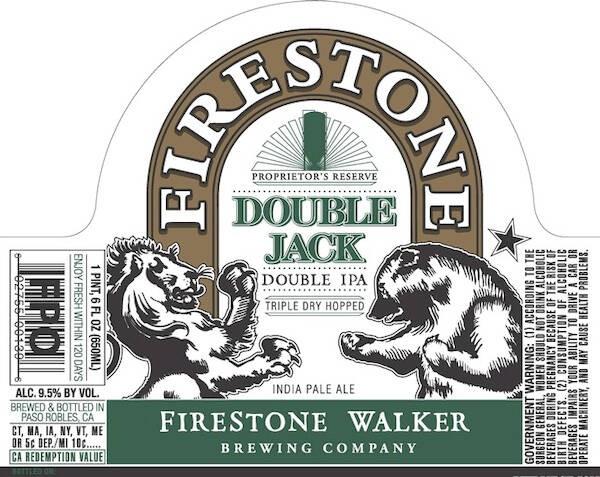 Firestone Double Jack IPA Sixtel Keg 5.16 Gal