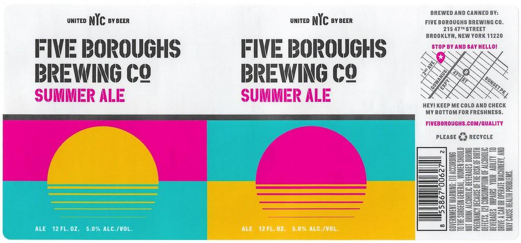 Five Boroughs Summer Ale 20 Liters Sixtel