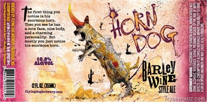 Flying Dog Horn Dog Barley Wine Sixtel Keg 5.16 Gal