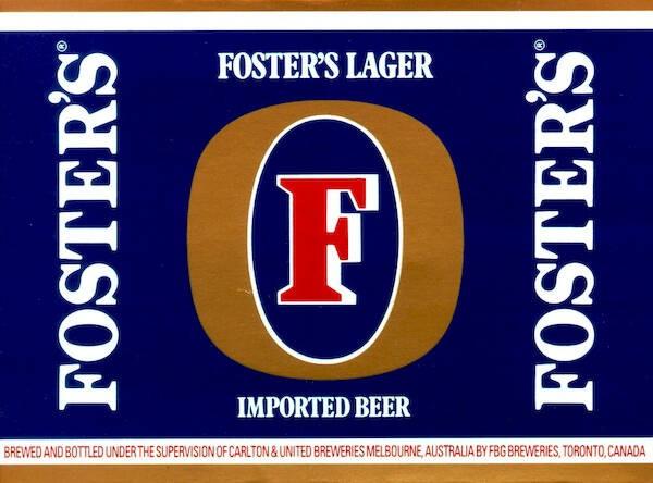 Fosters Lager Full Keg 15.5 Gal