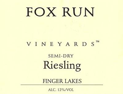 Fox Run Vineyards Riesling Semi-Dry 20.2 Liters