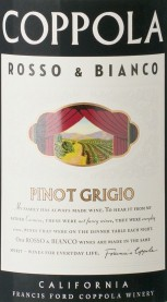 Francis Ford Coppola Rosso & Bianco Pinot Grigio 19.5 Liters