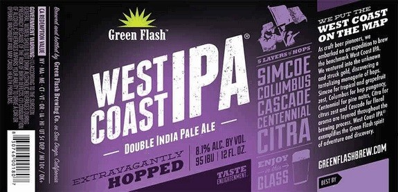 Green Flash West Coast IPA Full Keg 15.5 Gal