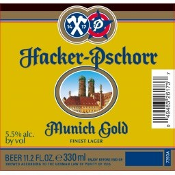 Hacker Pschorr Munich Gold Edelhell Full Keg 15.5 Gal