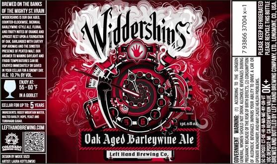 Left Hand Oak Aged Ale Widdershins Sixtel Keg 5.16 Gal