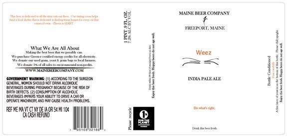 Maine Beer Weez Black IPA Sixtel Keg 5.16 Gal