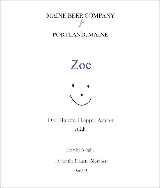 Maine Beer Zoe Hoppy Amber Ale Sixtel Keg 5.16 Gal