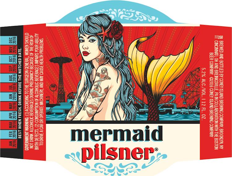 Coney Island Mermaid Pilsner 5.16 Gal Sixtel
