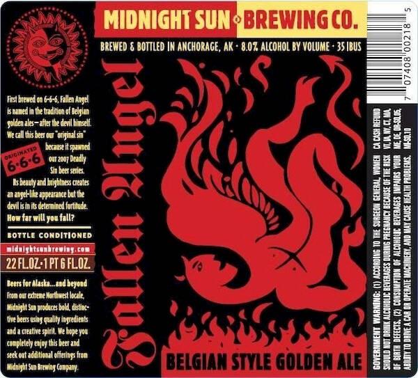 Midnight Sun Fallen Angel Golden Strong Ale Sixtel Keg 5.16 Gal