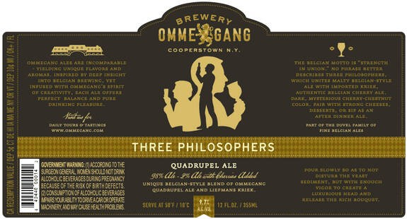 Ommegang Three Philosophers Sixtel Keg 5.16 Gal