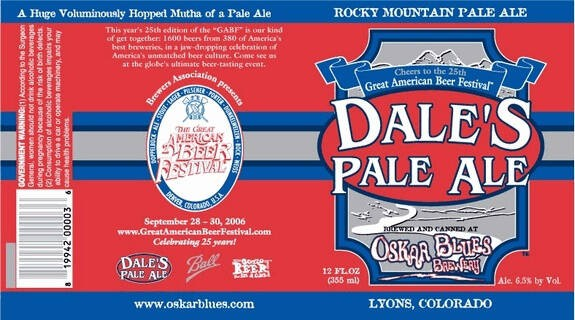 Oskar Blues Dale's Pale Ale Full Keg 15.5 Gal