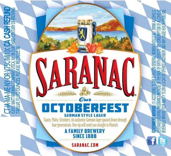 Saranac Octoberfest Sixtel Keg 5.16 Gal