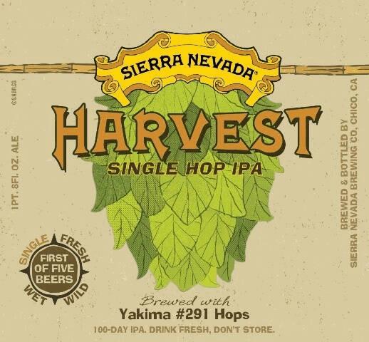 Sierra Nevada Harvest Single Hop IPA Sixtel Keg 5.16 Gal