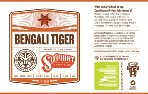 Six Point Bengali Tiger IPA 50 Liter Keg