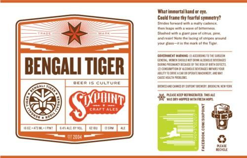 Six Point Bengali Tiger IPA Sixtel Keg 5.16 Gal