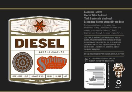 Six Point Diesel Stout Sixtel Keg 5.16 Gal