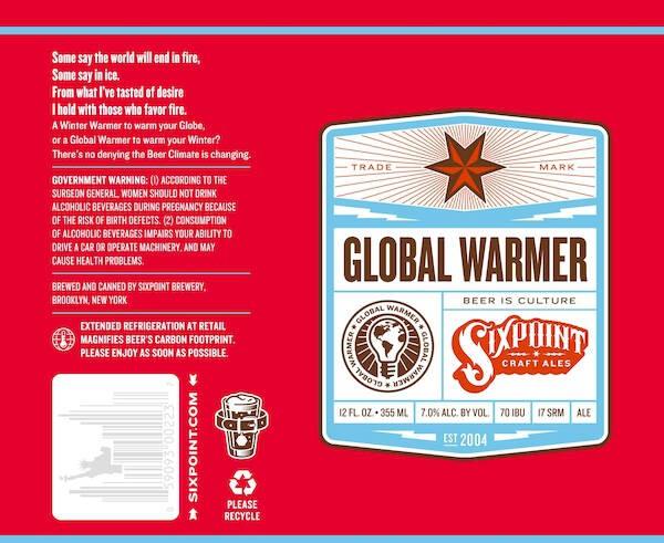 Six Point Global Warmer Sixtel Keg 5.16 Gal