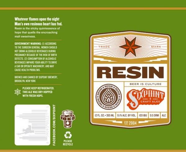 Six Point Resin Imperial IPA Sixtel Keg 5.16 Gal