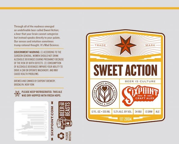 Six Point Sweet Action Sixtel Keg 5.16 Gal