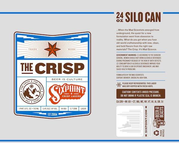 Six Point The Crisp 50 Liter Keg