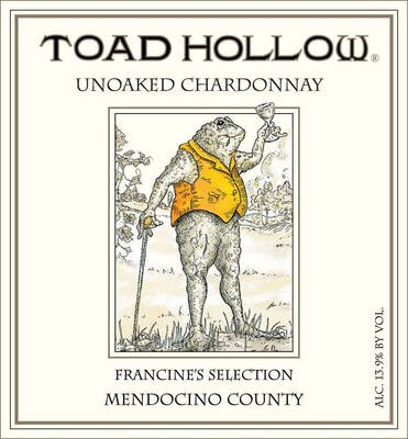 Toad Hollow Chardonnay Unoaked Francine's Selection 19.5 Liters