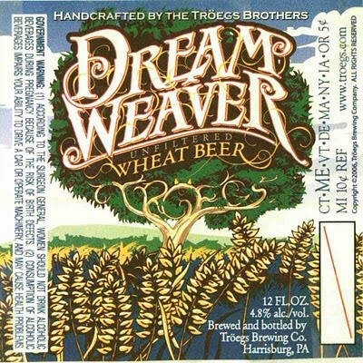 Troegs Dream Weaver Wheat Sixtel Keg 5.16 Gal