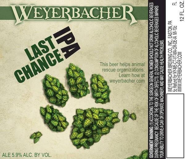 Weyerbacher Last Chance IPA Sixtel Keg 5.16 Gal