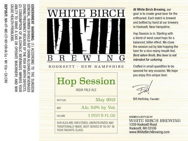 White Birch Hop Session Ale Sixtel Keg 5.16 Gal