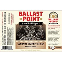 "**Limited** Ballast Point ""Victory at Sea"" Coconut Imperial Porter Sixtel 5.16 Gal"
