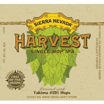 Sierra Nevada Harvest Single Hop IPA Sixtel Keg 5.16 Gal