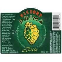 Victory Prima Pils Full Keg 15.5 Gal