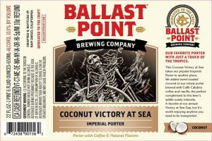 """**Limited** Ballast Point """"Victory at Sea"""" Coconut Imperial Porter Sixtel 5.16 Gal"""