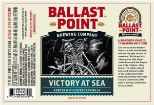 "Ballast Point ""Victory at Sea"" Imperial Porter Sixtel 5.16 Gal"