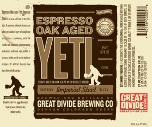 Great Divide Espresso Oak Aged Yeti Imperial Stout Sixtel Keg 5.16 Gal